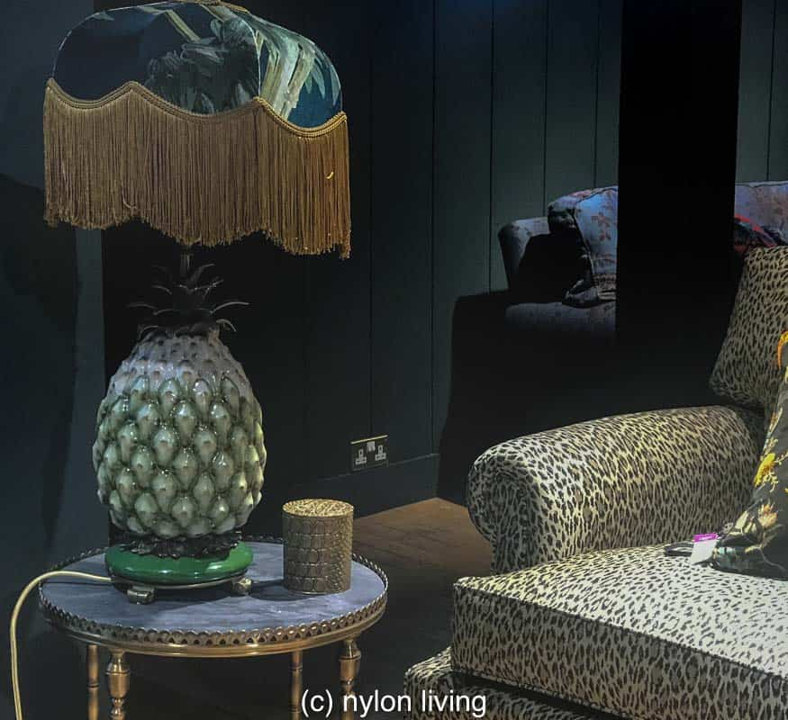 House of Hackney put a fringe lamp shade on that traditional sign of hospitality, a pineapple.