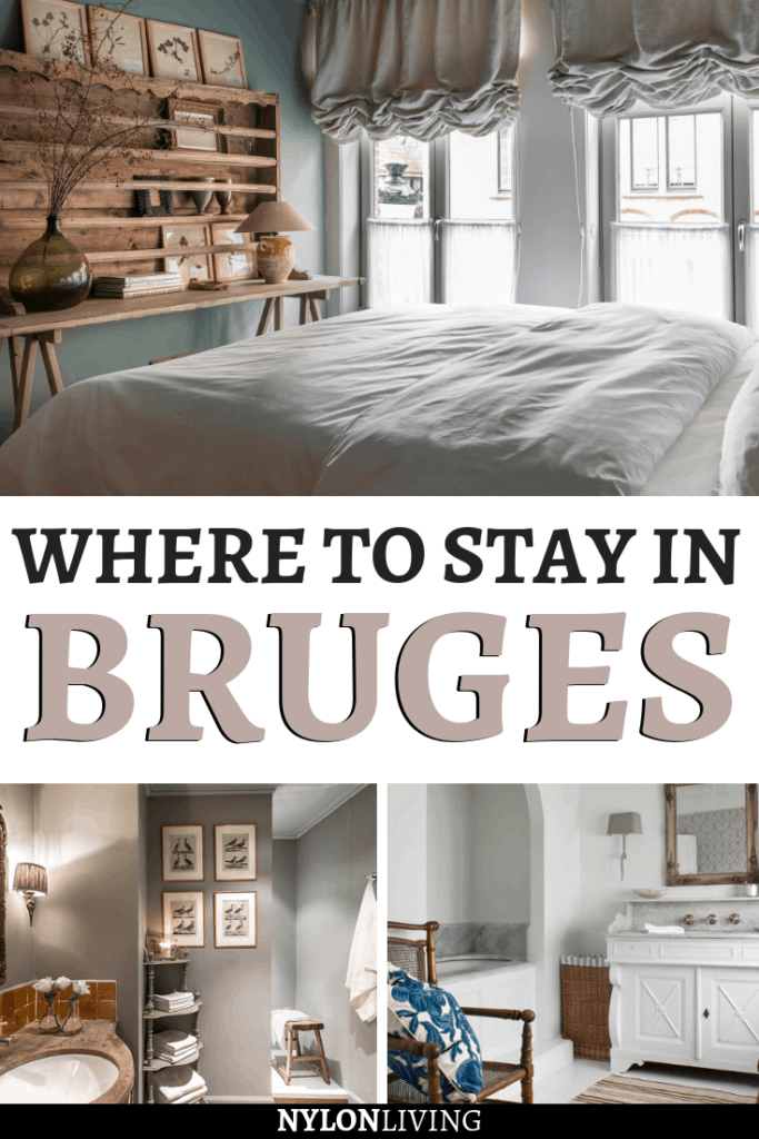 Bruges is such a charming city in Belgium, and if you're wondering where to stay in Bruges, we've got you covered. White Rooms guesthouse in Bruges is a project of Belgian interior designer, Natalie Haegeman, and it's stunning! And if you're looking for some white room decor and pastel palette bedroom inspiration, you can't miss this post. White, wood, and textures are the main ingredients for this decor. #bedroom #bedroomdesign #bedroomdecor #bedroomideas #bruges #belgium