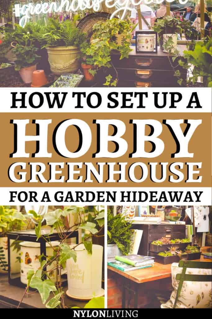 A hobby greenhouse can be the perfect addition to a city garden, especially a small greenhouse that's super stylish at the same time. Check out a few greenhouse ideas for your garden and find out why the one in this article would make the perfect garden hideaway. #greenhouse #gardenideas #greenhouseideas