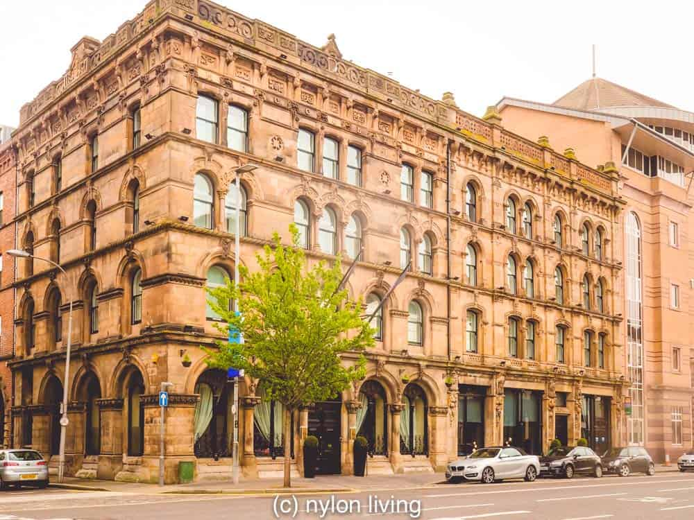 Malmaison Belfast with its red brick exterior and warehouse windows