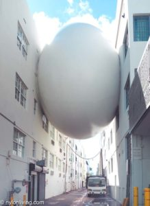 The Betsy Orb is a piece of public art connecting the two buildings of The Betsy Hotel South Beach