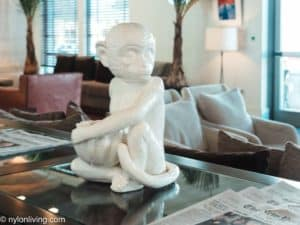 Monkey figurine at the Betsy Hotel