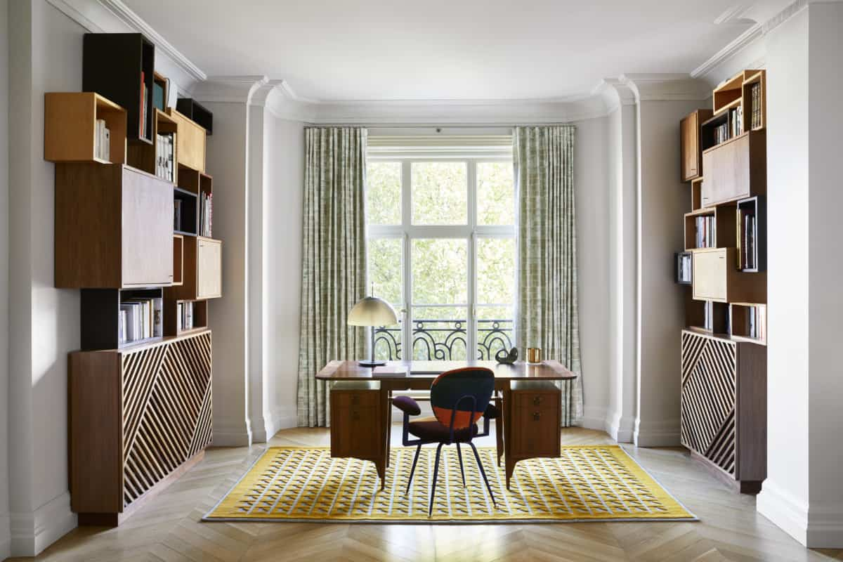 La Manufacture Cogolin's Syllepse Rug, featured in a project by interior designer Sandra Benhamou