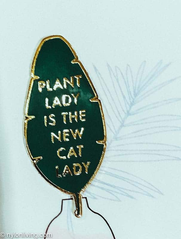 a sign that says plant lady is the new cat lady