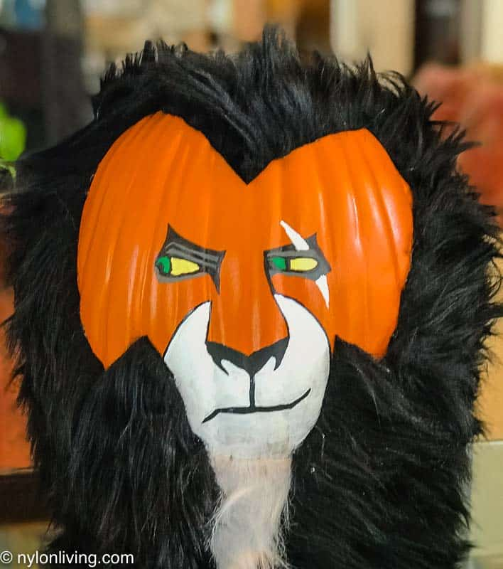 The Lion King Scar Jack O'Lantern