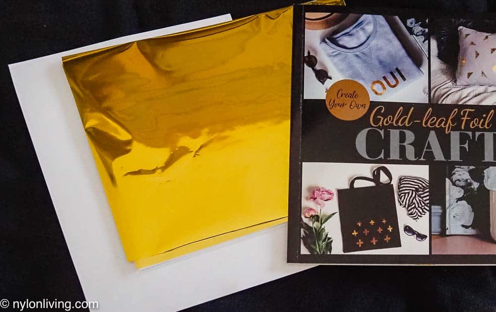 gold foil and tape and booklet in the gold foil craft kit