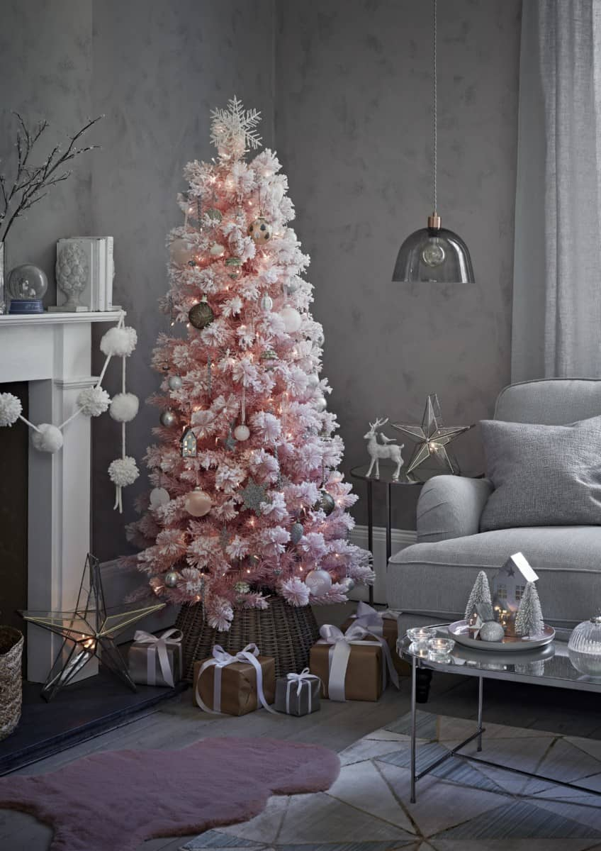 pink cashmere tree from Sainsbury's Home