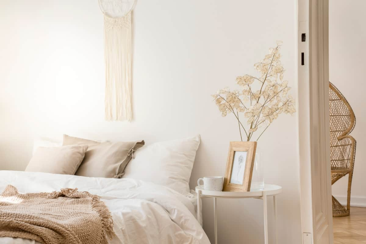 beige and champagne bedroom