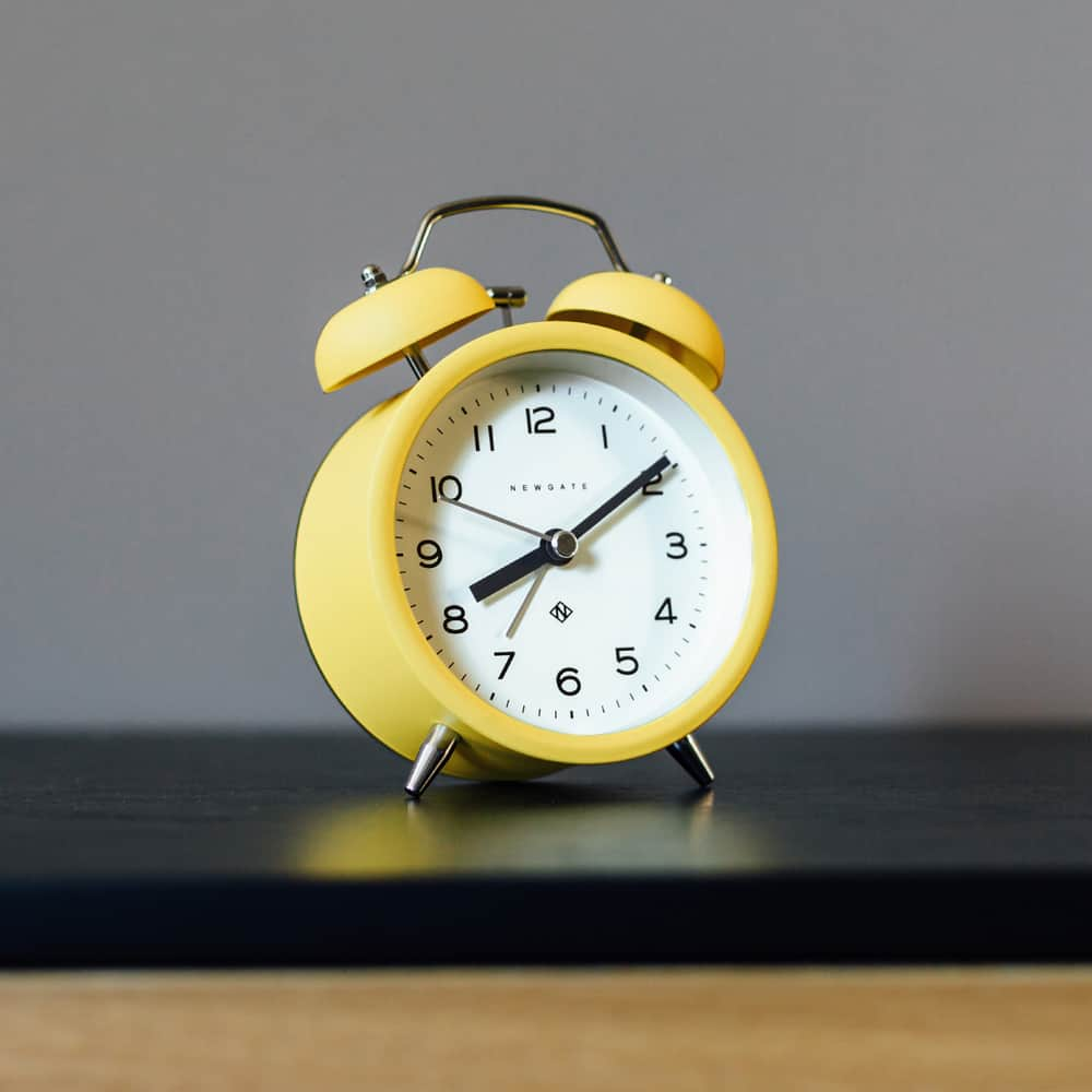 Echo Alarm Clock in Cheeky Yellow